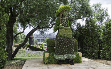 обоя разное, садовые и парковые скульптуры, клумба, парк, озеленение, скульптура, красота