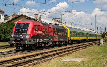 обоя техника, электровозы, локомотив, состав