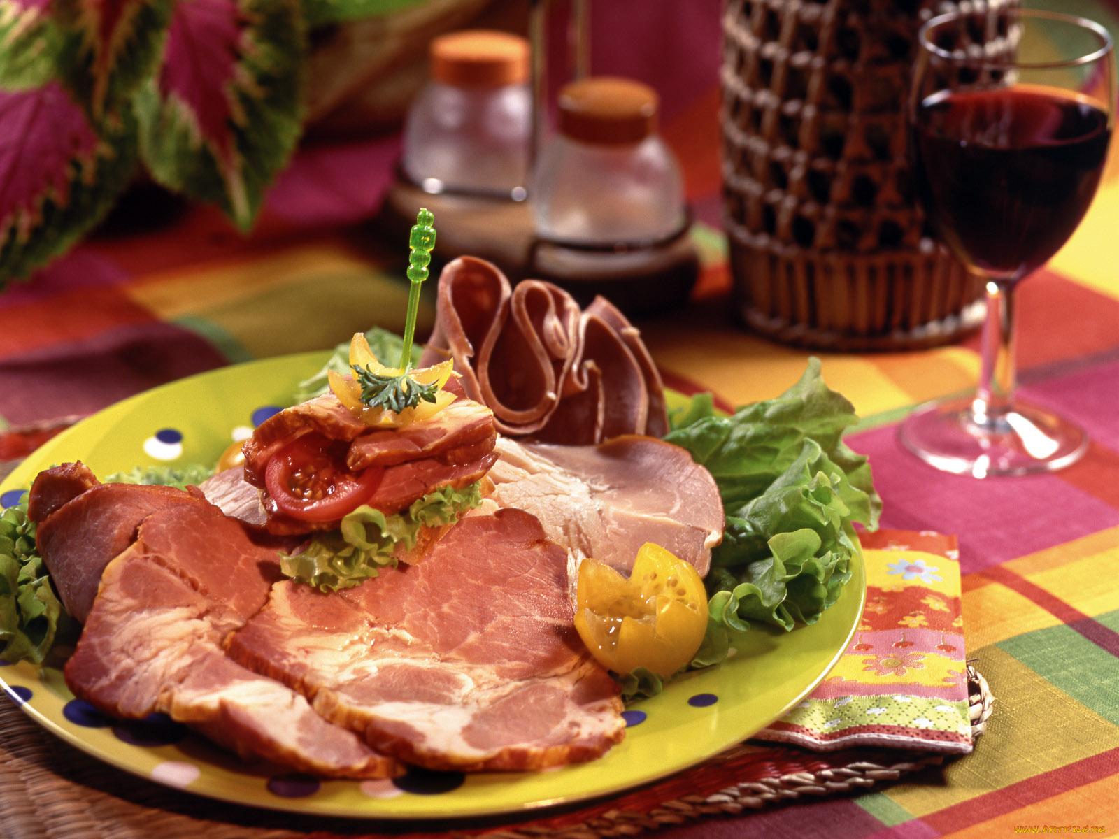 Картинки с ужином мясо, открыток