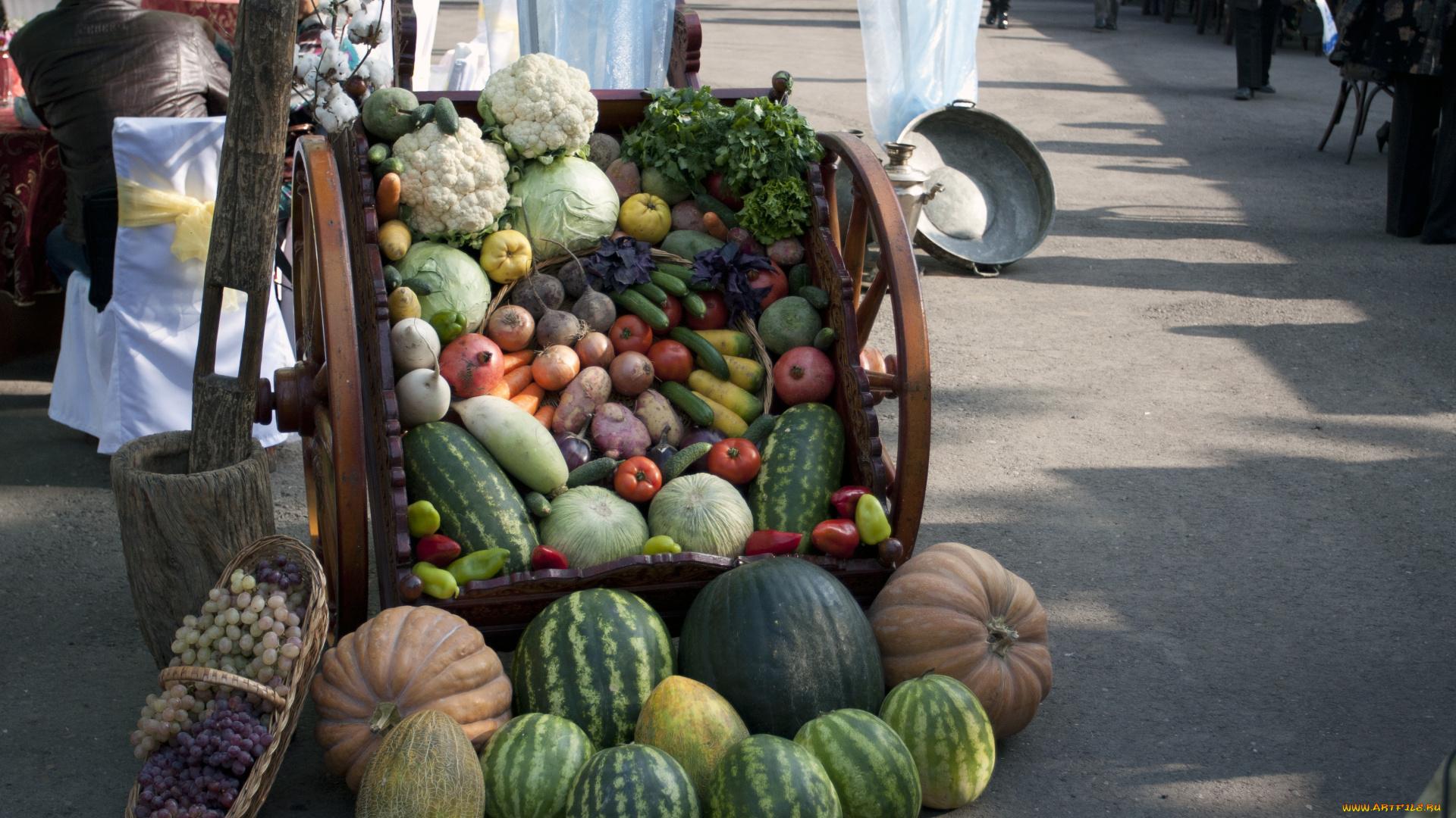 Тележка овощей анонимно