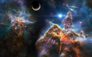 Картинка nebula космос арт вселенная звезды галактики