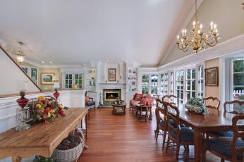 Картинка интерьер столовая furniture dining room стиль люстра цветы мебель chandelier style flowers
