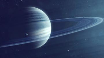 Картинка космос арт планеты звезды вселенная кольца