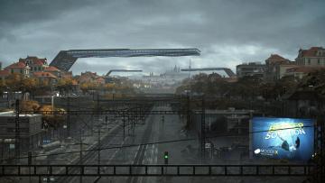 Картинка видео+игры deus+ex +mankind+divided город