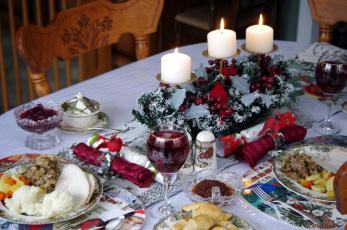 обоя праздничные, сервировка, праздник, вино, свечи