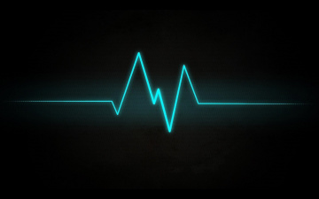 Картинка 3д+графика абстракция+ abstract сердцебиение сигнал кардиограмма полоса черный фон линия