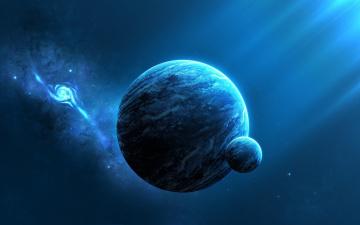 Картинка космос арт вселенная звезды планеты