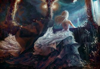 Картинка аниме unknown +другое арт принцесса водопад тиара девушка jennyeight