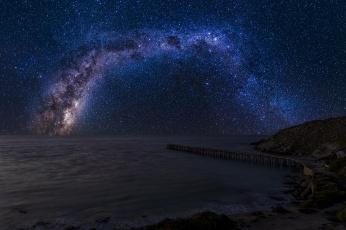 Картинка milky+way космос галактики туманности звезды небосвод