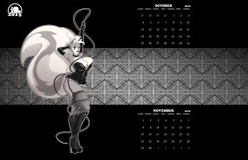обоя календари, рисованные,  векторная графика, фон, взгляд, девушка