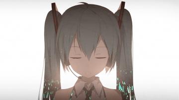 обоя аниме, vocaloid, hatsune, miku