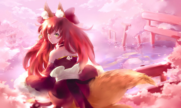 обоя аниме, fate, stay night, tamamo, no, mae