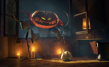 обоя праздничные, хэллоуин, тыква, halloween