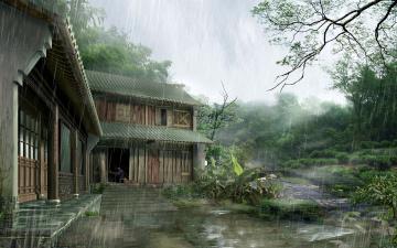 Картинка 3д графика architecture архитектура