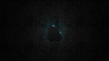 Картинка компьютеры apple яблоко фон тёмный логотип
