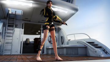Картинка 3д+графика фантазия+ fantasy оружие взгляд девушки