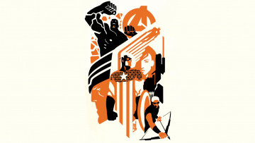 Картинка рисованное минимализм фон black widow hawkeye hulk captain america thor iron man avengers