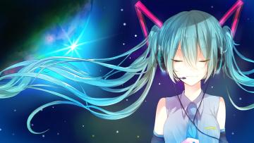 Картинка аниме vocaloid девушка арт miyanishi tsuki hatsune miku