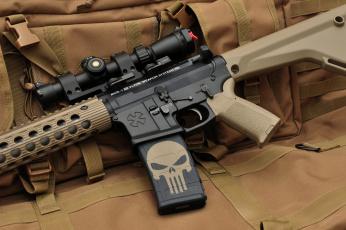 обоя оружие, автоматы, череп, assault, rifle, штурмовая, винтовка, автомат, каратель, punisher, оптика