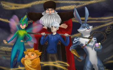 обоя мультфильмы, rise of the guardians, персонажи