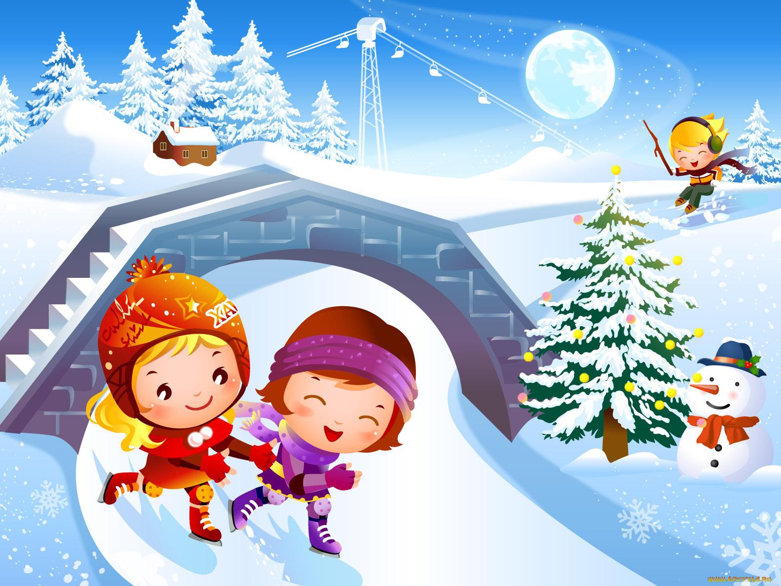 Картинки днем, картинки о зиме для детей
