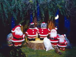 Картинка праздничные мягкие игрушки украшения новый год
