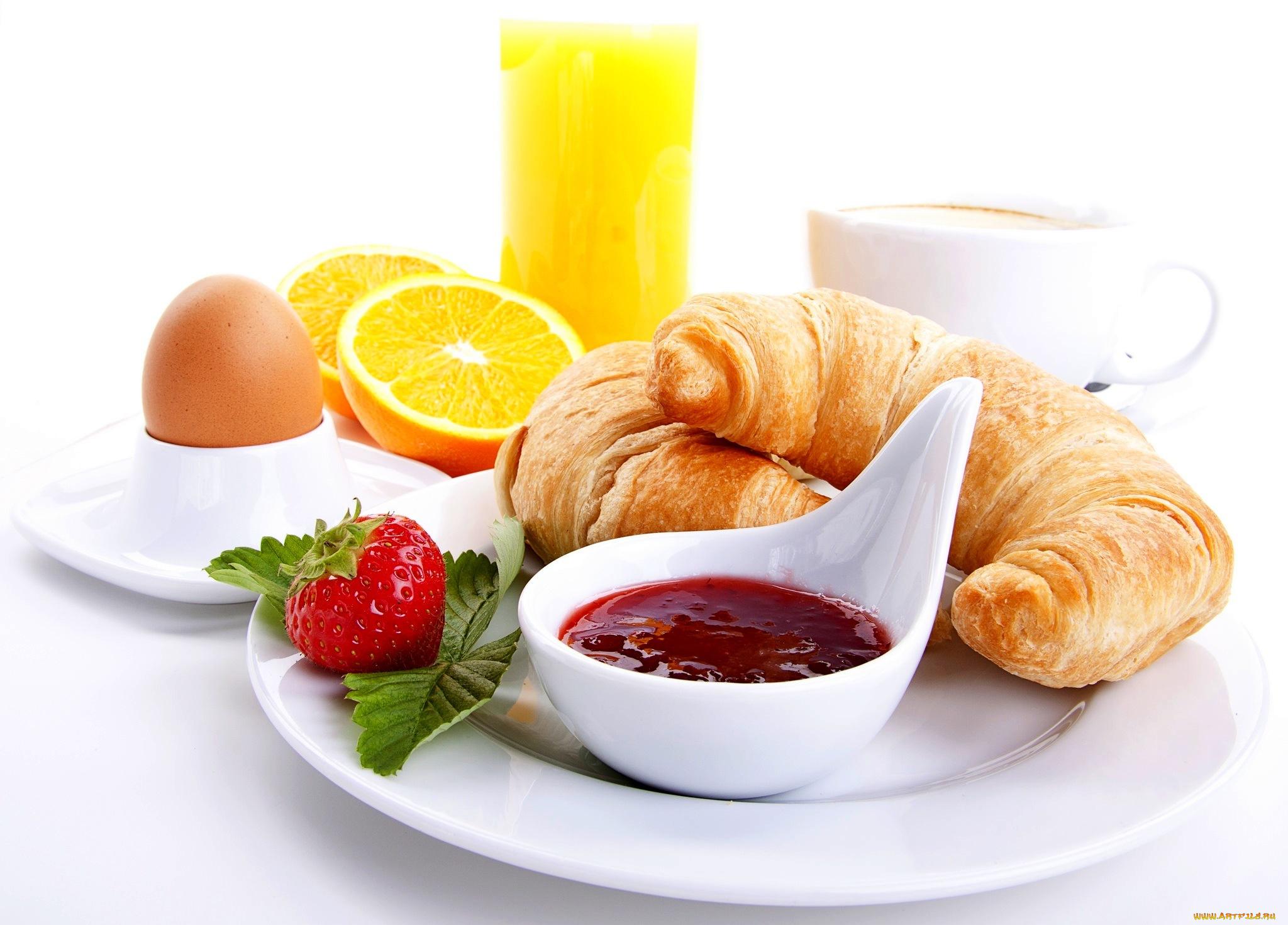 еда сок круасаны яйцо фрукты салат food juice croissants egg fruit salad скачать