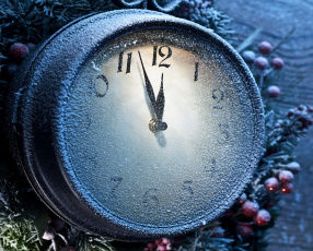 Картинка праздничные -+разное+ новый+год иней часы год новый