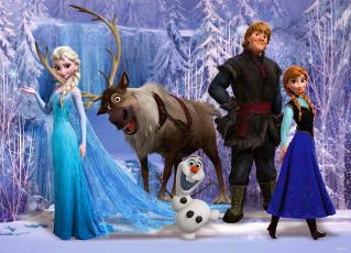 Картинка мультфильмы frozen arendelle elsa hans anna kristoff sven olaf холодное сердце уолт дисней анимация эрендель снег снежинки лёд королева эльза ганс олень свен снеговик олаф принцесса анна кристофф