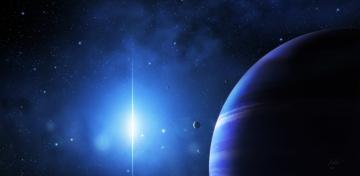 Картинка космос арт планеты вселенная звезды свечение