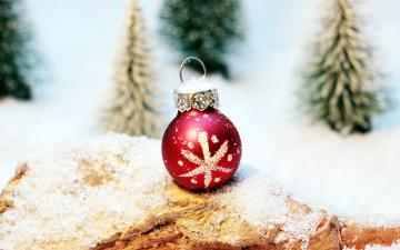 обоя праздничные, шары, шарик, снег