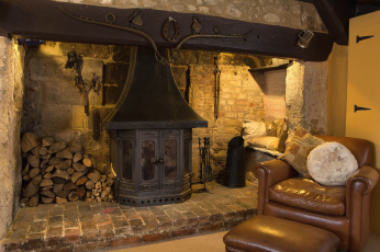 обоя интерьер, камины, печка, кресло