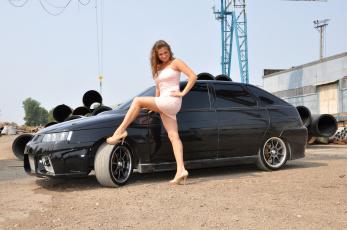 обоя ваз- 2112, автомобили, -авто с девушками, девушка, ваз-, 2112
