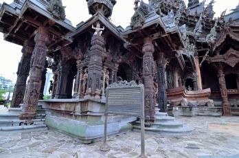 обоя города, - исторические,  архитектурные памятники, таиланд, святилище, паттайя