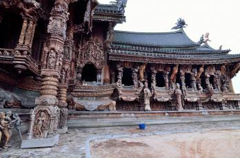 обоя города, - исторические,  архитектурные памятники, таиланд, паттайя, святилище