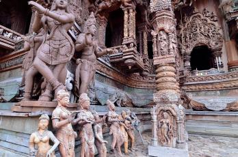 обоя города, - исторические,  архитектурные памятники, паттайя, святилище, таиланд