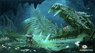 обоя видео игры, subnautica, квест, симулятор, подводный, мир, адвенчура