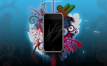 обоя бренды, iphone, смартфоны, фон