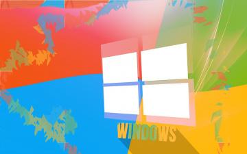 обоя компьютеры, windows 9, логотип, фон