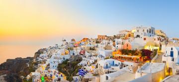 Картинка oia santorini greece города санторини греция панорама