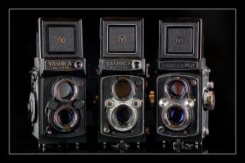 обоя yashica mat family, бренды, бренды фотоаппаратов , разное, фотокамера