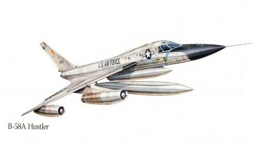 Картинка авиация 3д рисованые v-graphic сша самолет бомбардировщик б-58