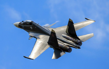 Картинка su-30sm авиация боевые+самолёты истребитель