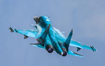 Картинка su-34 авиация боевые+самолёты бомбардировщик