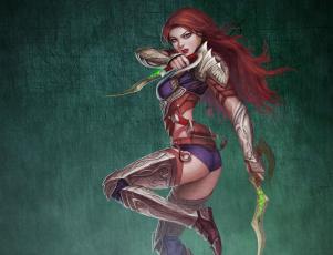 Картинка bruce mashbat фэнтези девушки воительница кинжалы