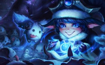 Картинка видео+игры league+of+legends wonder winter snowdown lulu league of legends lol