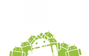 обоя компьютеры, android, логотип, фон