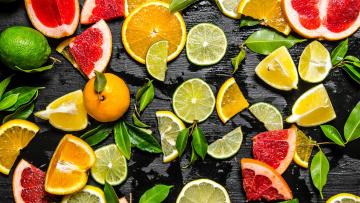 обоя еда, цитрусы, апельсин, грейпфрут, лимон