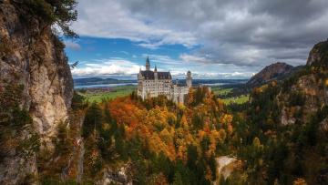 обоя города, замок нойшванштайн , германия, neuschwanstein, castle