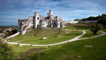 обоя ogrodzieniec castle, города, замки польши, ogrodzieniec, castle